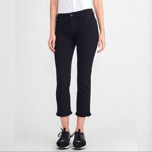 DL1961 'Mara' Ankle Straight Leg Frayed Hem Jeans